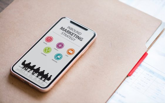 Mobile phone with Inbound Marketing Strategy screen-shot